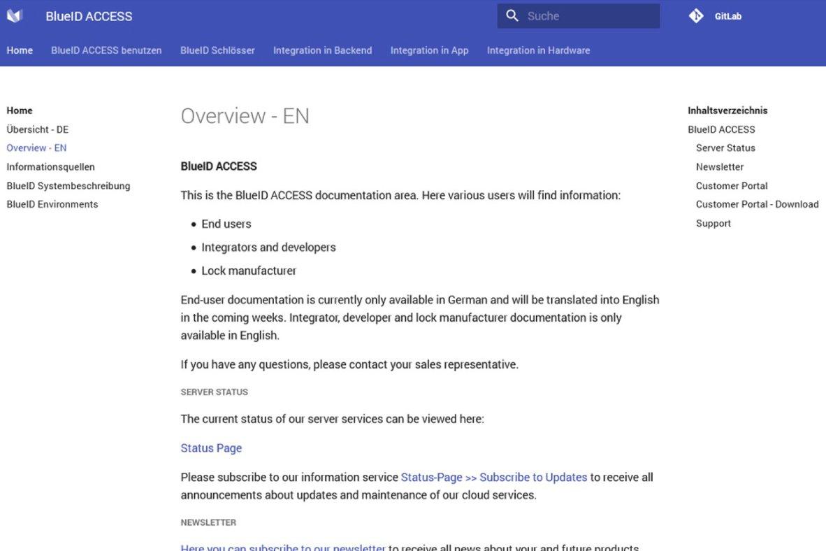 New BlueID Customer Portal